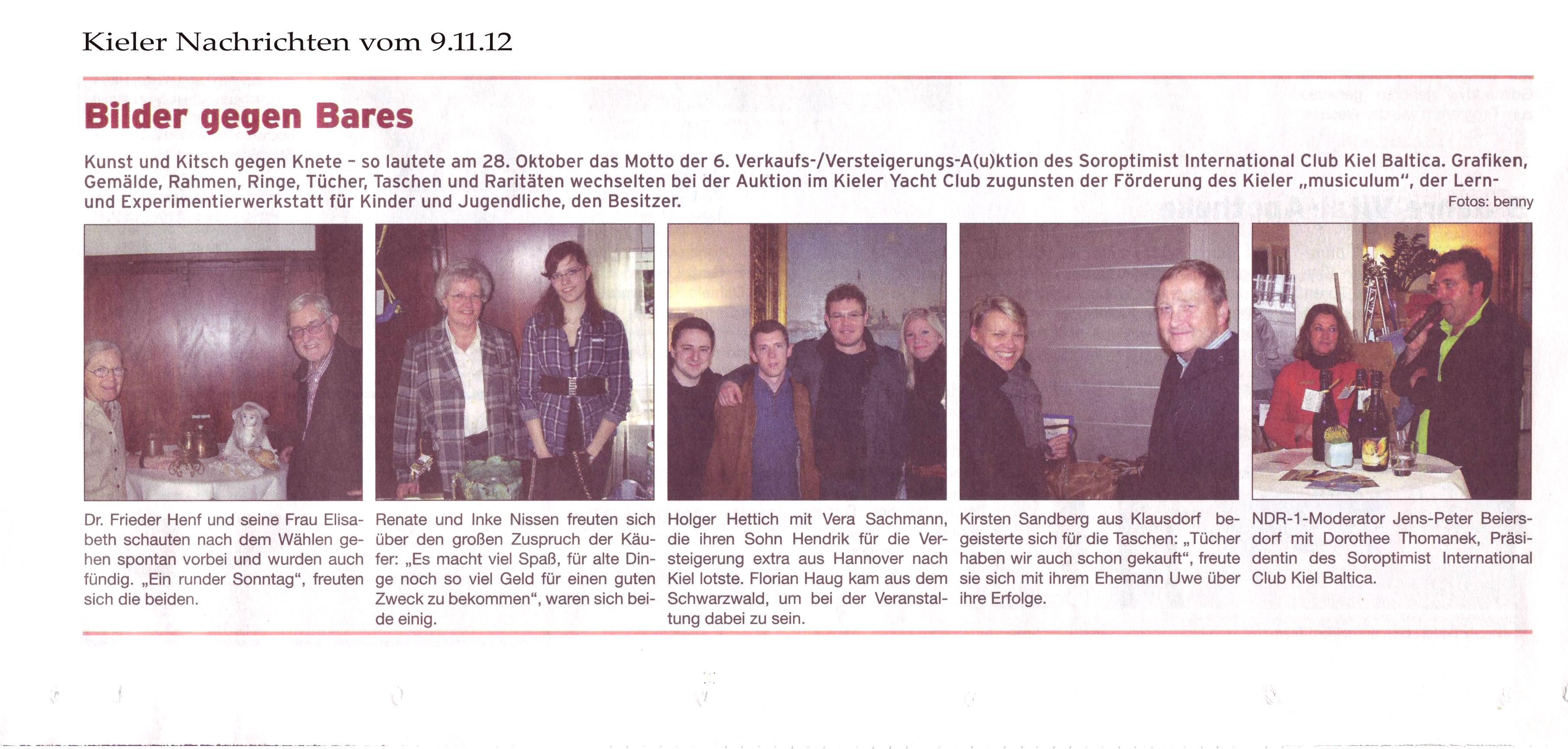 Kieler Nachrichten vom 9.11.12
