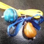 SI-Perlen gold und blau