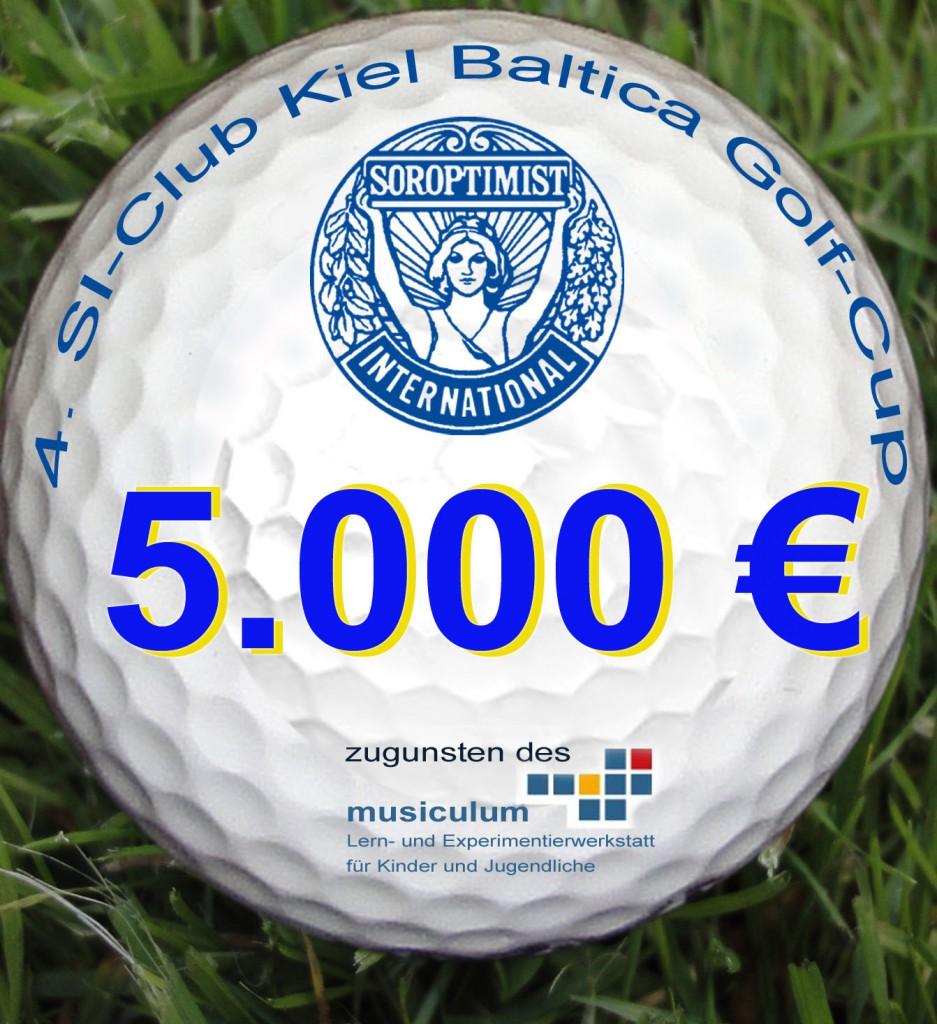 Golfball statt Scheck